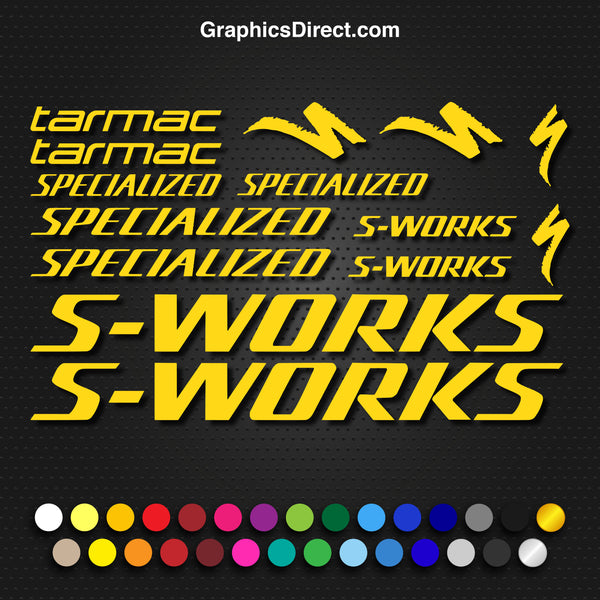 Specialized S-Works Tarmac Bike Decal Graphic Set V1 Photo
