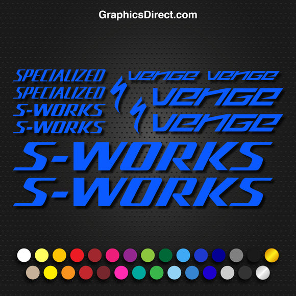 Specialized S-Works Venge Bike Decal Graphic Set V2 Photo