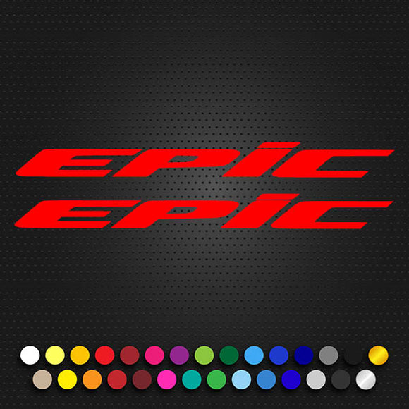Specialized EPIC FSR Decal Set EPIC Logo Text 235x21
