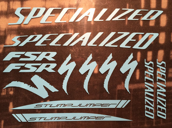 Specialized (curved) FSR Stumpjumper Decal Set Type 1.