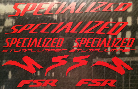 Specialized (curved) Stumpjumper FSR Graphics Set Type 2 Photo.