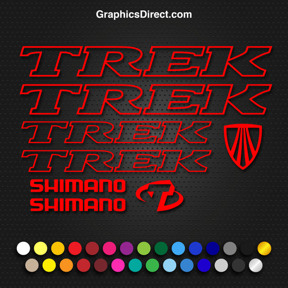 Trek Replacement Vinyl Decal Graphic Sticker Set MTB DH XC Bike V2