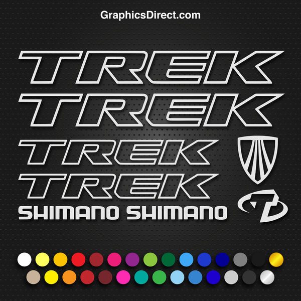 Trek Replacement Vinyl Decal Graphic Sticker Set MTB DH XC Bike Outline