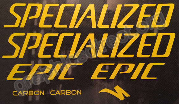 Specialized (Retro) Epic Carbon Graphics Set. (116)