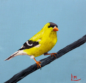 """American Goldfinch"" by Leslie Miller"