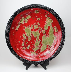 Large Round Platter by Pamela Summers