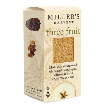 Therre-Fruit Apple, Sultana & Date Crackers Millers's Harvest 125gr - lamantequeria