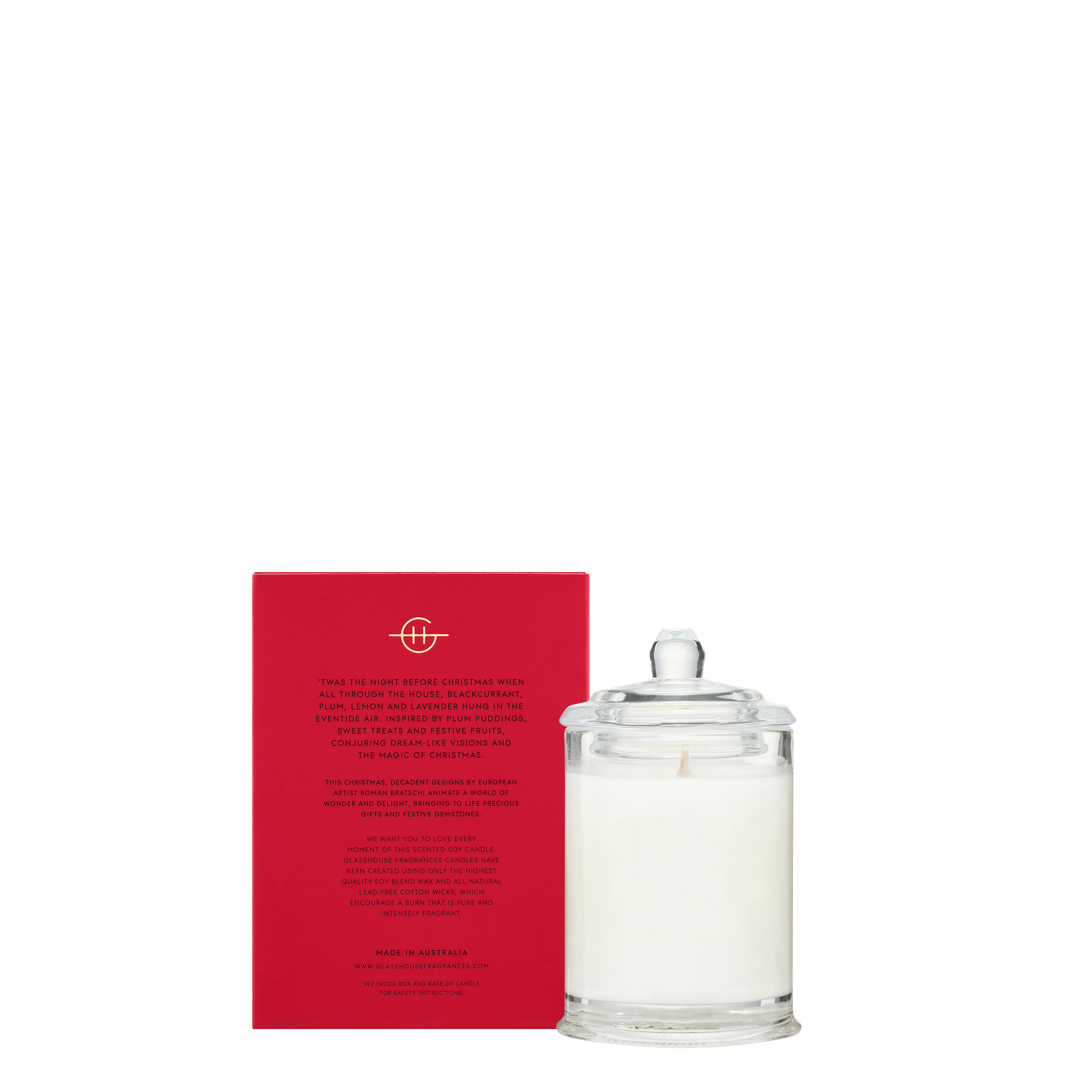 Glasshouse Fragrances 60g Soy Candle Gift Card - NIGHT BEFORE CHRISTMAS