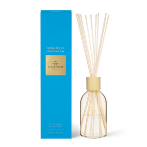 Glasshouse Fragrances 250ml Diffuser - BORA BORA BUNGALOW - Cilantro & Orange Zest