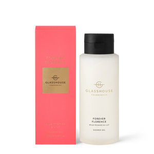 Glasshouse Fragrances 400ml Shower Gel - FOREVER FLORENCE - Wild Peonies & Lily