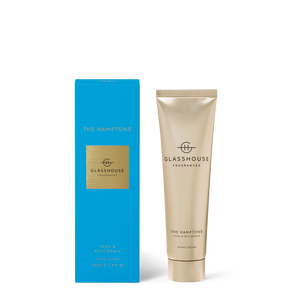 Glasshouse Fragrances 100ml Hand Cream - THE HAMPTONS - Teak & Petitgrain