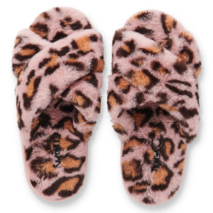 Kip & Co - Pink Cheetah Adult Slippers