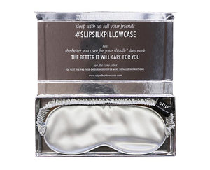 Slip™ - Pure Silk Sleep Mask - Silver