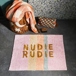Load image into Gallery viewer, Sage and Clare - TULA NUDIE BATH MAT - Bubblegum Stripe