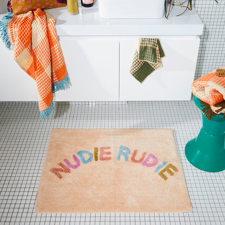 Sage and Clare - TULA NUDIE BATH MAT - Tigre