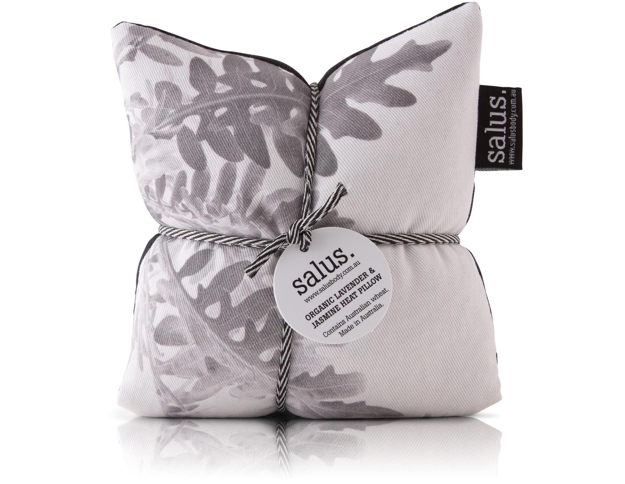 Salus Body - Lavender & Jasmine Heat Pillow - Grey Botanical