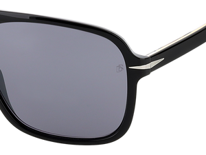 DB 7008/S - Black - Silver Mirror