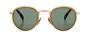 DB 1033/S - Honeybrown Creamhorn - Green Lightgreen Antireflex
