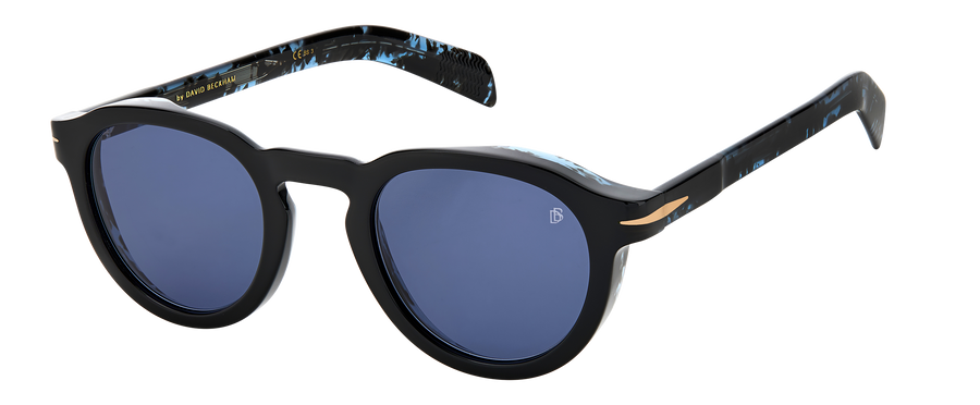 DB 7029/S - Black Blue Havana - Blue Avio