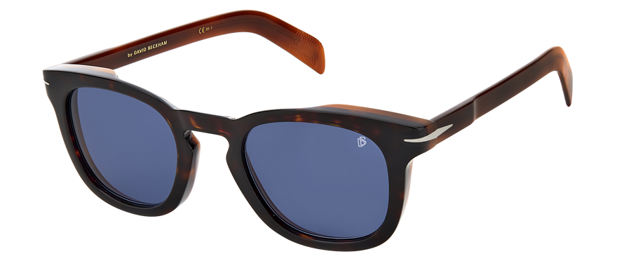 DB 7030/S - Dark Havana Brown - Blue Avio