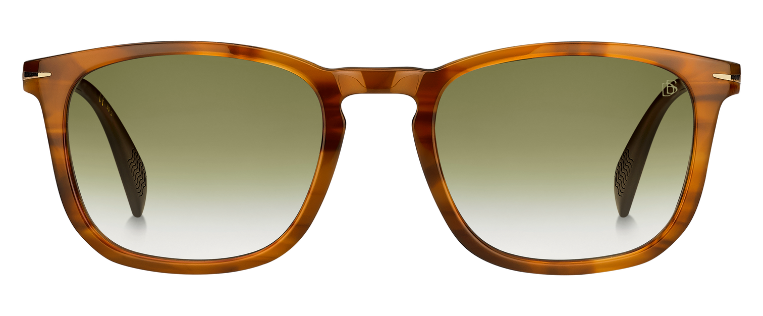 DB 1034/S - Brown Horn Gold - Green Shaded