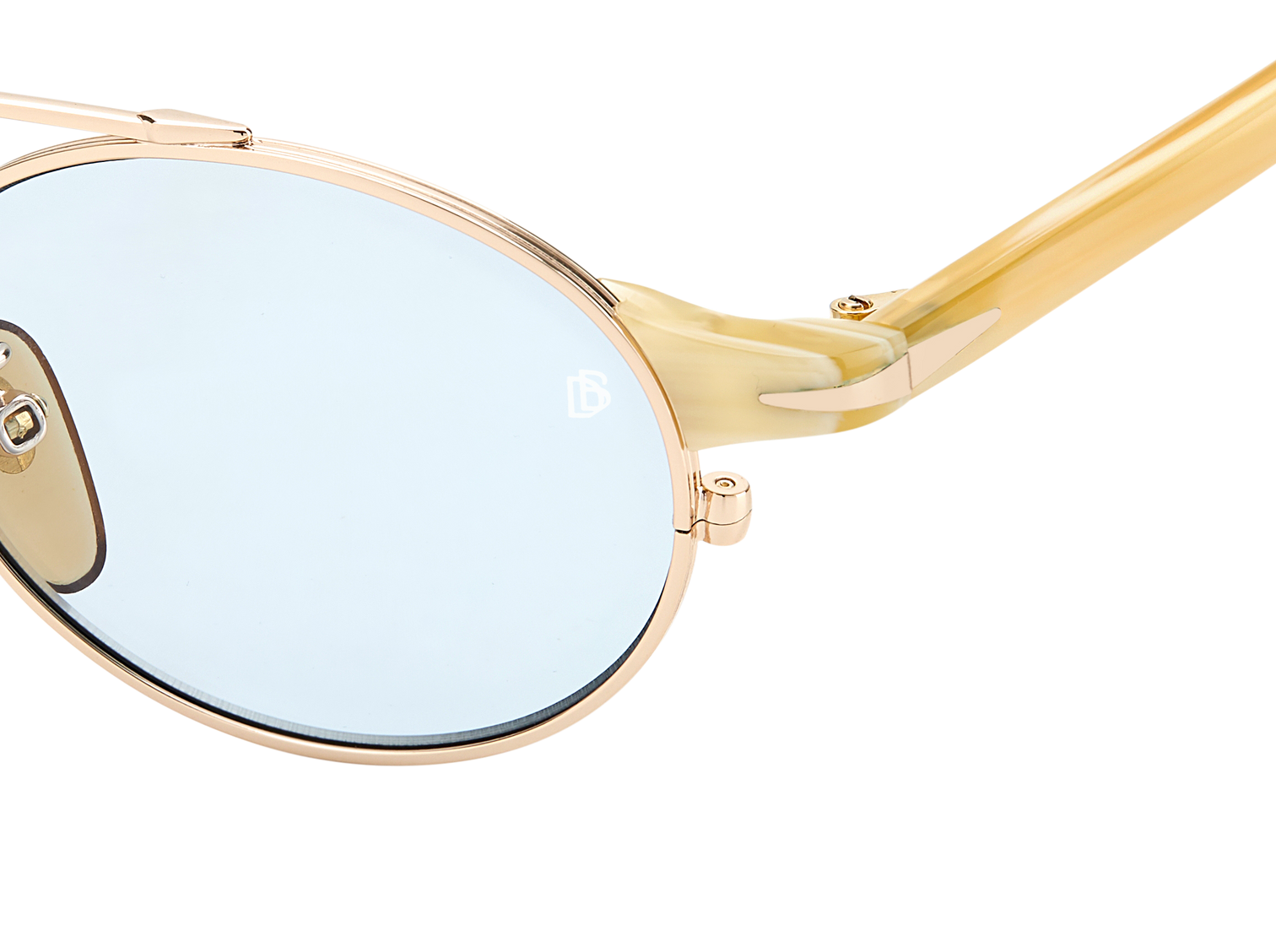 DB 1042/S - Gold Beige Horn - Azure Photocromatic