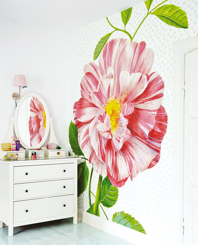 Eijffinger ice 359158 oversized heritage rose with spotty background mural