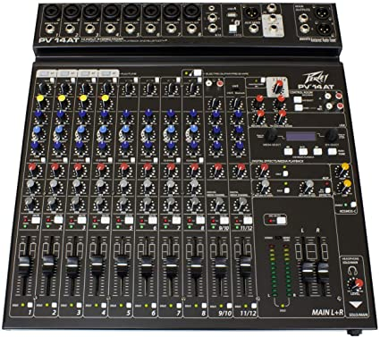 Peavey PV14AT 14 Channel Compact Mixer with Bluetooth