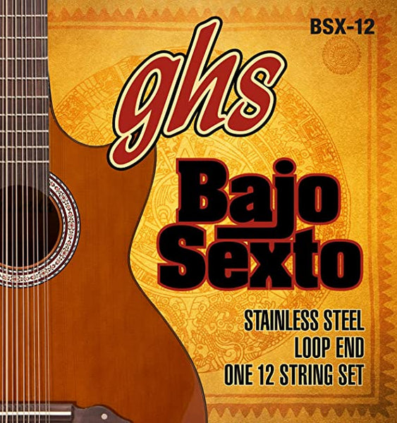 GHS Stainless Steel Bajo Sexto String Set