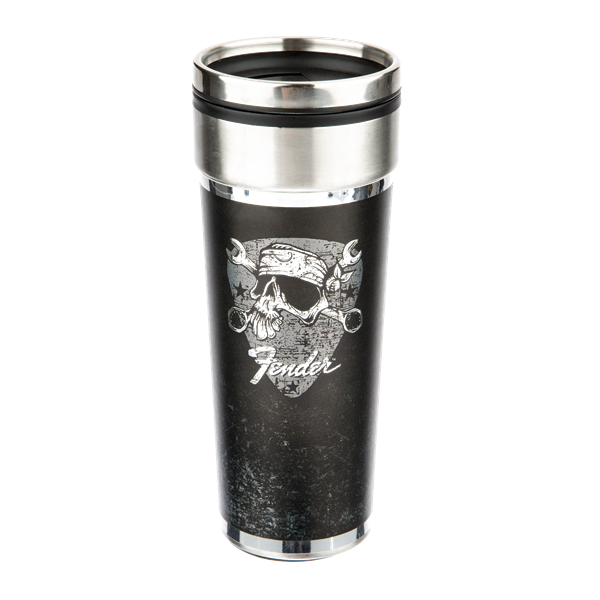 Fender David Lozeau Travel Mug Black and Chrome