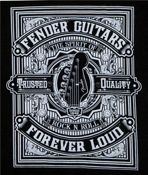 Fender Forever Loud Trusted Quality T-Shirt Medium