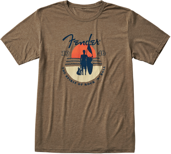 Fender Sunset Spirit T-Shirt Olive