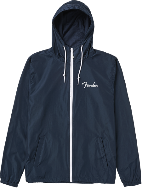 Fender Spaghetti Logo Windbreaker Navy