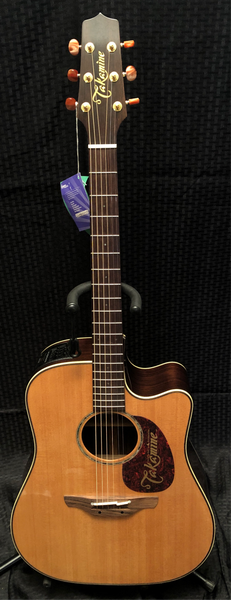 Takamine Acoustic Electric Dreadnought Guitar With Tube Pre Tan16C