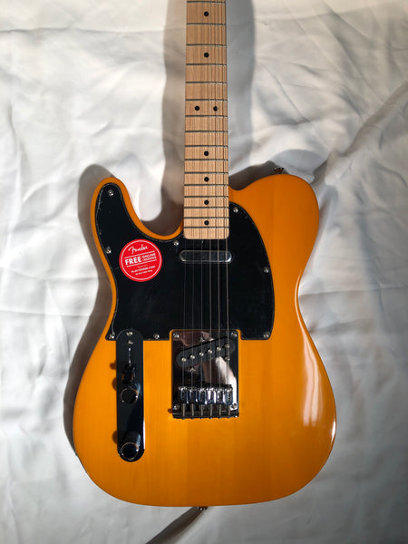 Squier Affinity Series Telecaster Maple Fingerboard Butterscotch Blonde