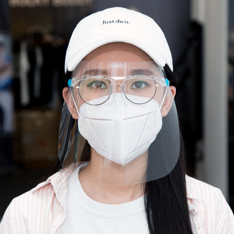 A Face Shield with A Pair of Glasses