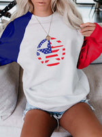 Load image into Gallery viewer, Independence Day Flag Star Sweatshirt