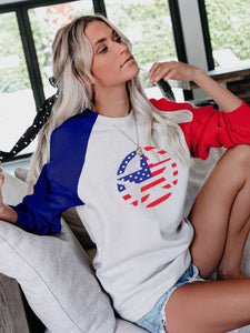 Independence Day Flag Star Sweatshirt
