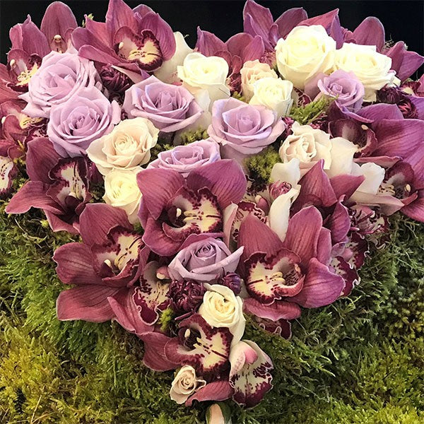 Mission Impossible Heart of Roses & Orchid Heads