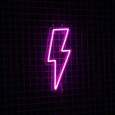 LIGHTNING BOLT PINK| NEXT DAY DELIVERY AVAILABLE - Marvellous Neon