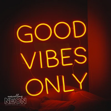 Good Vibes Only Neon Sign - NEXT DAY DELIVERY - Marvellous Neon