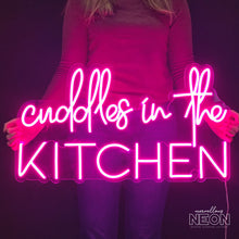 Cuddles In The Kitchen Pink Neon Led Sign - Next Day Delivery - Marvellous Neon