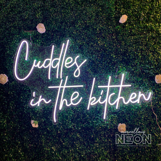 Cuddles In The Kitchen Neon Led Sign - Marvellous Neon