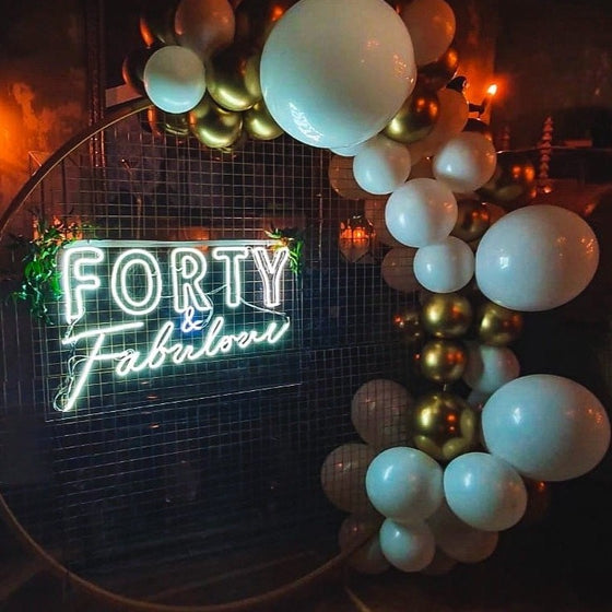 Forty & Fabulous Led Sign - Marvellous Neon
