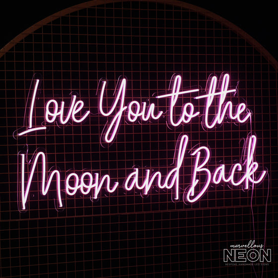 'Love You To The Moon And Back' LED Neon Sign - Marvellous Neon