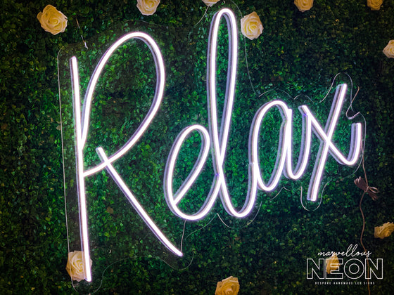 Relax LED Neon Sign - Marvellous Neon