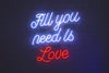 All You Need Is Love Led Sign - Marvellous Neon