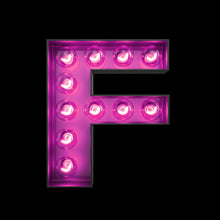 Light Up Letter - F - Marvellous Neon