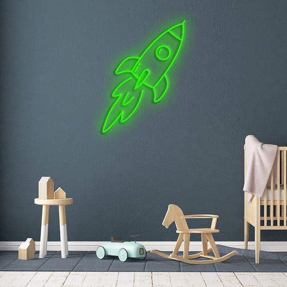 'ROCKET' Neon Sign - Marvellous Neon