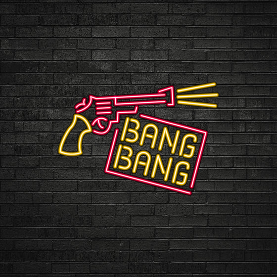Gun Bang Bang Led Sign - Marvellous Neon